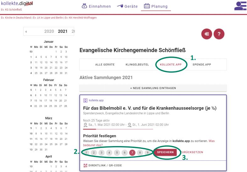 Neues Feature: Sortierung von Sammlungen in kollekte.app / spende.app